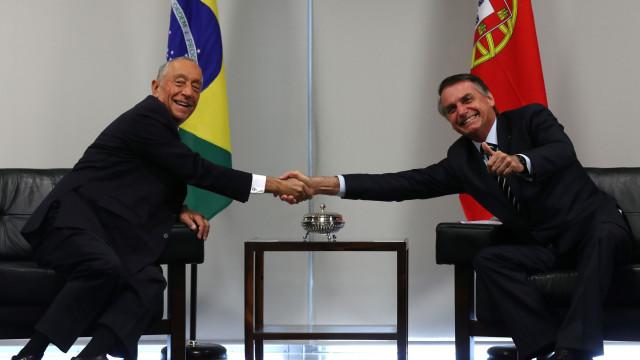 Presidente de Portugal 'chocado com piadas de cunho sexual' de Bolsonaro