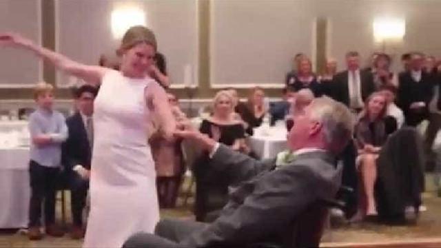Doença não impede pai de dançar com filha no dia do casamento dela