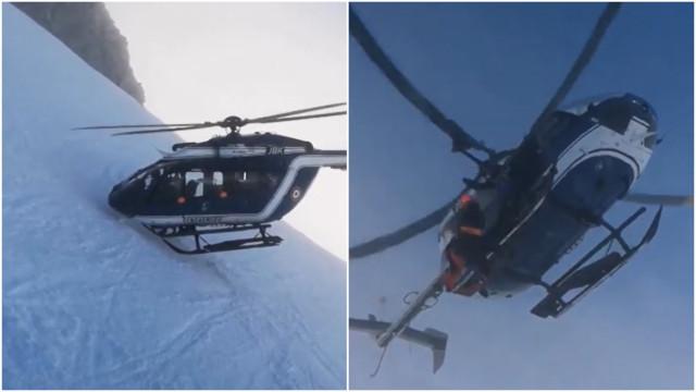 Piloto de helicóptero protagoniza resgate dramático nos Alpes