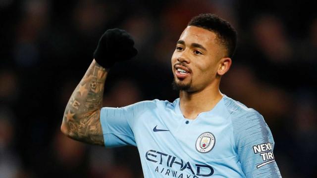 Com gol de Gabriel Jesus, Manchester City vence e está em segundo