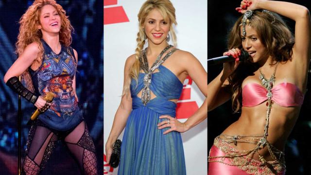 Confira o estilo camaleônico de Shakira ao longo da carreira