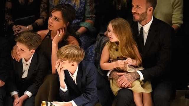 Victoria e David Beckham mostram mudança radical no visual da filha