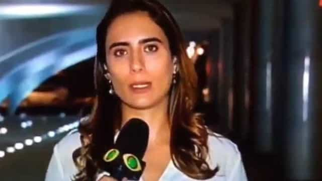 Repórter da Band chama mulher de Bolsonaro de Michelle Obama