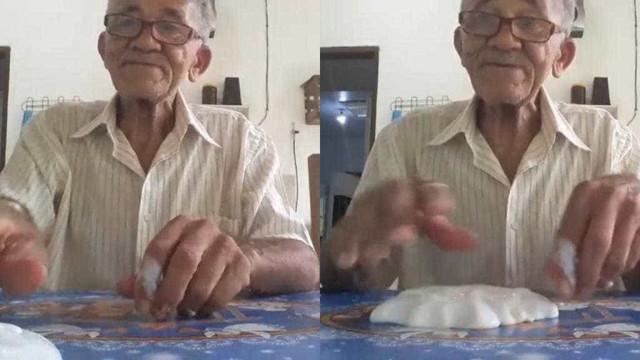 Idoso faz sucesso fazendo 'slime' no YouTube; conheça