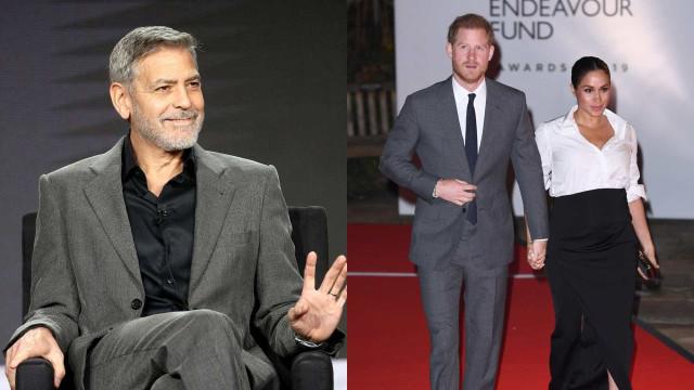 George Clooney diz que Meghan está sendo perseguida como Diana foi