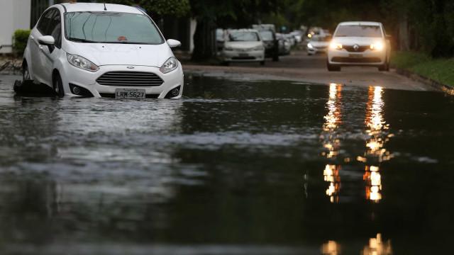 Chuvas provocam alagamentos e derrubam árvores no Rio