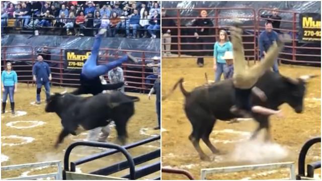 Homens são atingidos por touro durante competição; assista