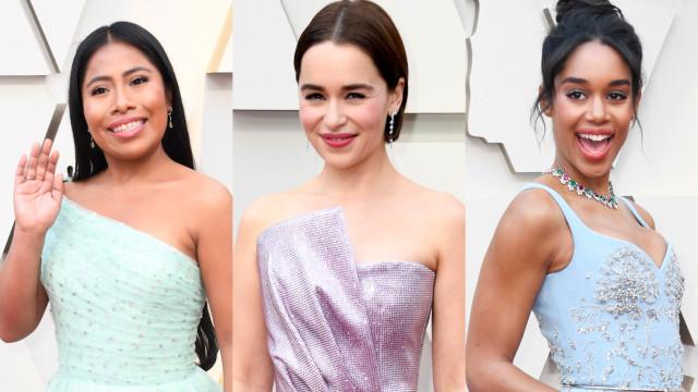 Lindas em pastel: a tendência do momento no Oscar 2019