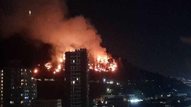 Incêndio atinge um dos principais pontos turísticos de Santiago
