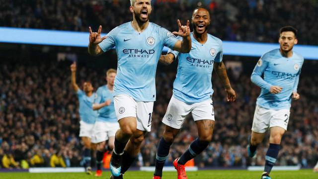 Manchester City vence Crystal Palace e pode ser campeão do Inglês amanhã.