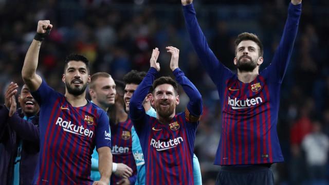 Barcelona volta a vencer Real no Santiago Bernabéu