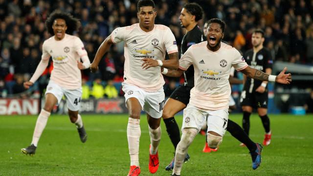 Com virada histórica, Manchester United elimina o PSG na Champions