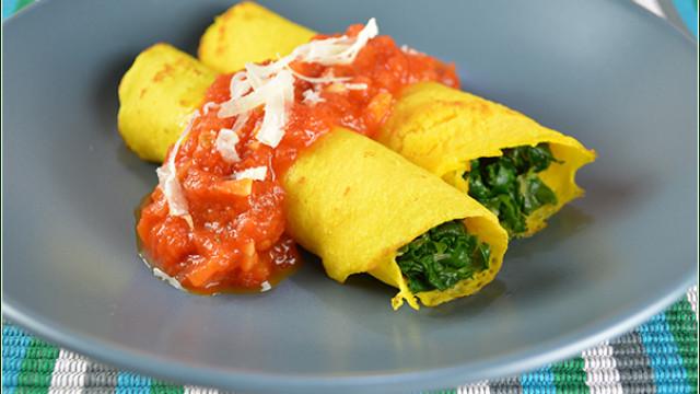 Panqueca sem glúten e sem lactose de cenoura com espinafre; aprenda