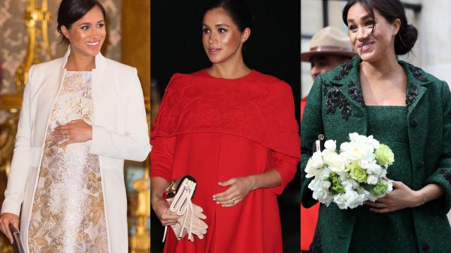 Looks de Meghan Markle durante a gravidez saíram caros à realeza