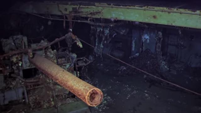 Imagens do porta-aviões da II Guerra Mundial encontrado no fundo do mar