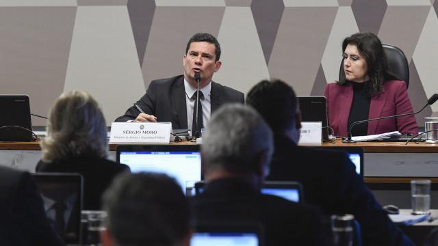 No Senado, Moro destaca reforço a grupo da PF que mira em políticos