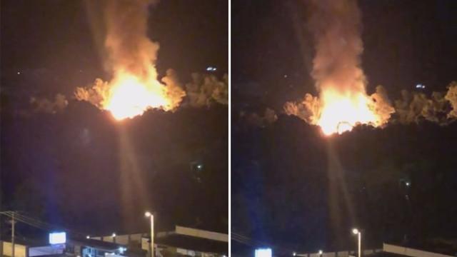 Incêndio atinge set de 'Espelho da Vida' no Rio