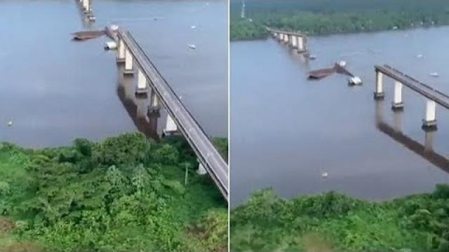 Bombeiros buscam desaparecidos no Pará após queda de parte da ponte