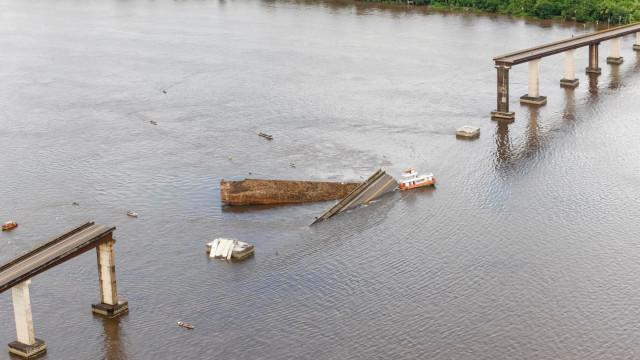 Bombeiros buscam desaparecidos no Pará após queda de parte de ponte