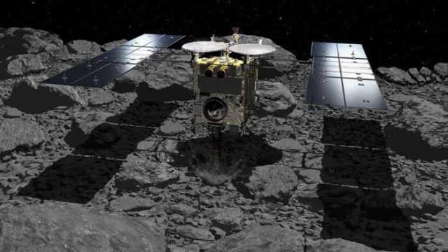 Sonda japonesa pousa em asteroide pela segunda vez e coleta de amostras