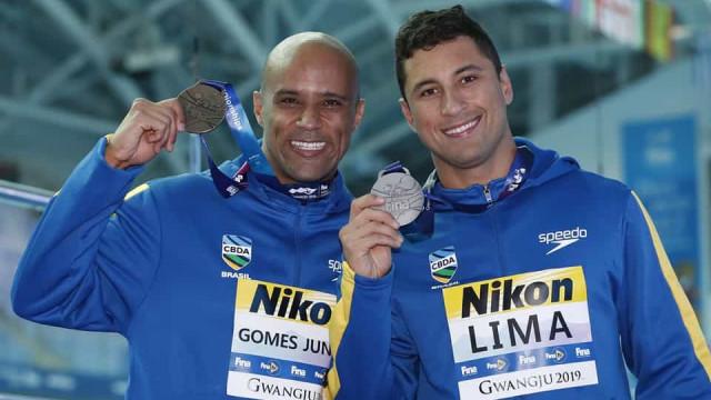 Brasileiros levam prata e bronze nos 50 m peito no mundial