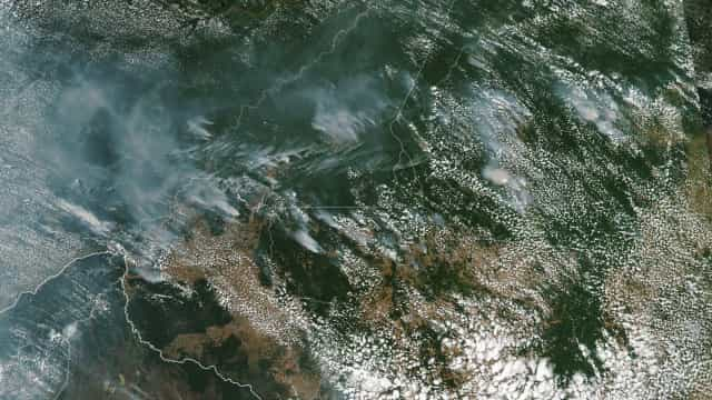 NASA mostra fotos de incêndios na Amazônia tiradas do Espaço