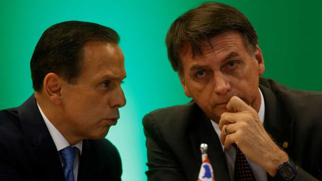 Briga Doria-Bolsonaro deixa obras sob impasse