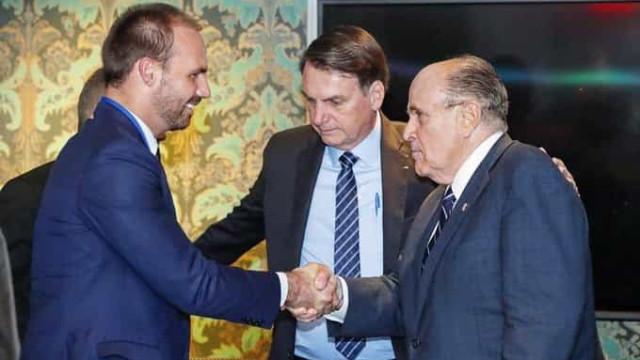 Bolsonaro se encontra com ex-prefeito Rudolph Giuliani em Nova York