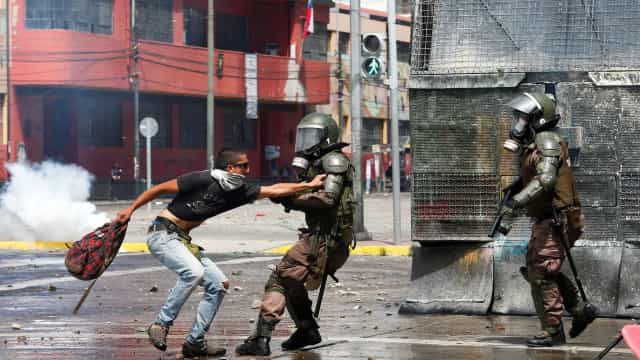No Chile, já houve mais de 20 mortos e 9 mil pessoas presas