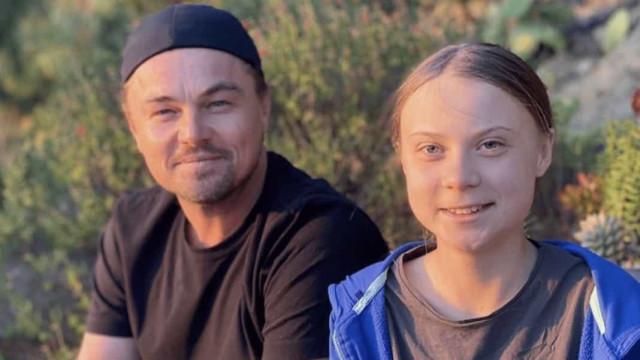 Leonardo DiCaprio diz que Greta Thunberg é 'líder de nosso tempo'