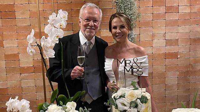 Alexandre Garcia se casa um dia após completar 79 anos