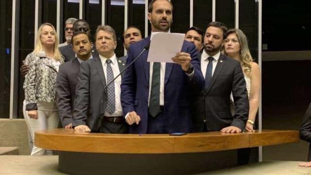 Eduardo Bolsonaro considera natural pedido de suspensão do PSL