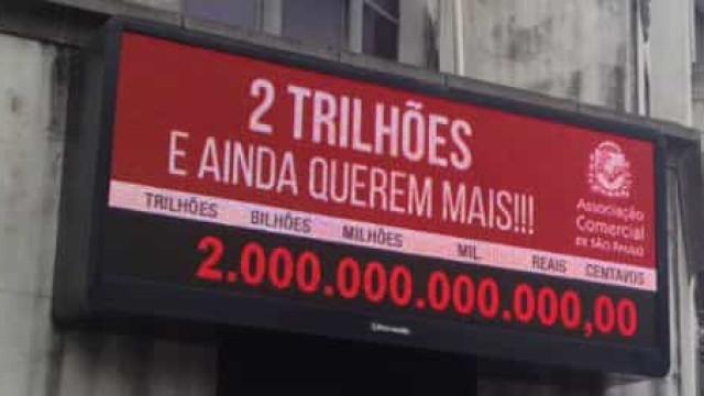 Impostômetro atinge marca de R$ 2,4 trilhões superando valor de 2018