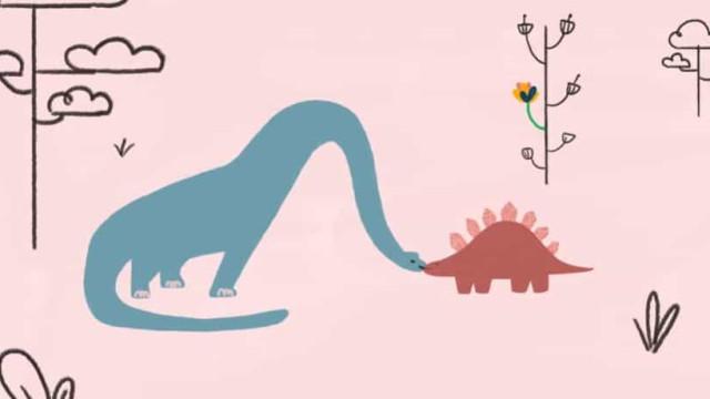 Pai mostra canção que filha de 4 anos escreveu sobre dinossauros