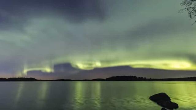 O time-lapse de um novo fenómeno da aurora boreal