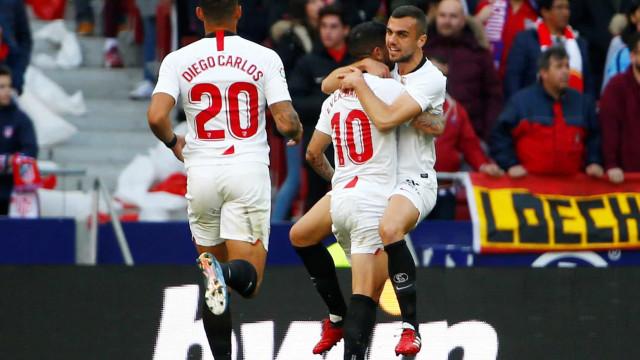 Atlético de Madrid e Sevilla empatam em jogo com 4 gols