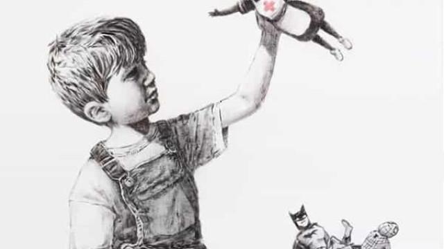 Banksy vai leiloar obra para doar dinheiro ao sistema de saúde britânico