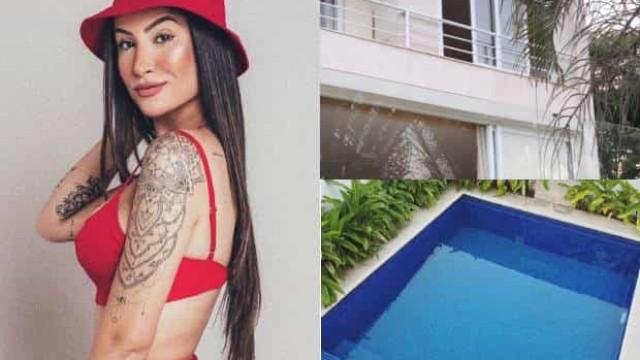 Ex-BBB compra casa de três andares com piscina e mostra fotos
