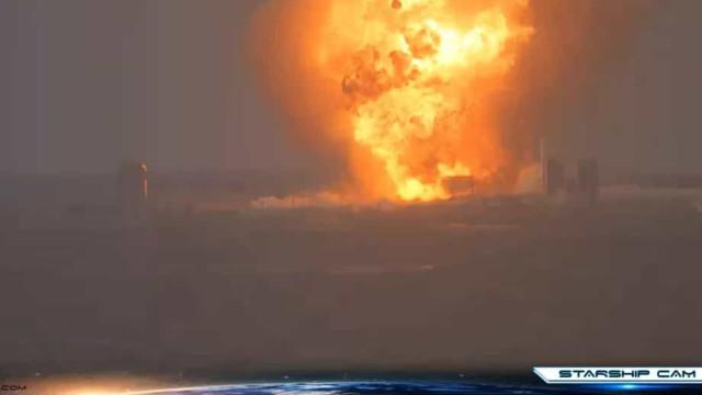 SpaceX: teste resulta em explosão de mais um protótipo de nave