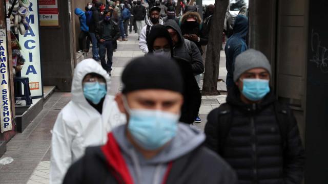 Contágios no Chile são os mais baixos das últimas semanas