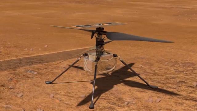 NASA revela como lançará helicóptero em Marte