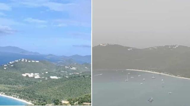 Nuvem 'Godzilla' chega à América e enche céus com pó do Saara