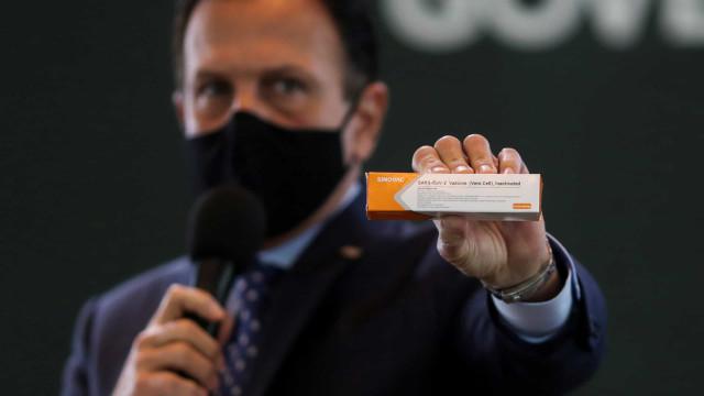 Primeiras doses da Coronavac chegam a SP em até uma semana, diz Doria