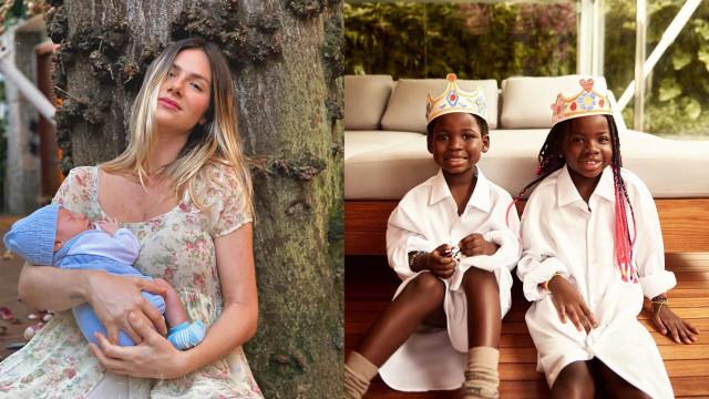 Giovanna Ewbank derrete fãs com fotos dos filhos juntos