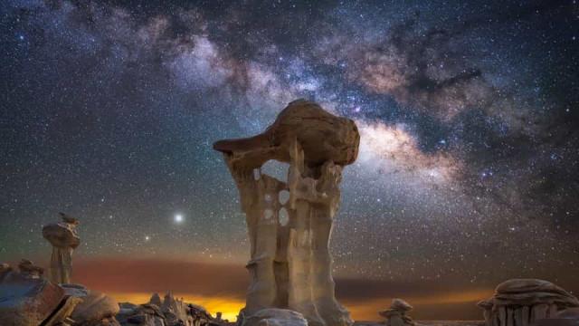 A incrível foto de Saturno e Júpiter captada no Novo México