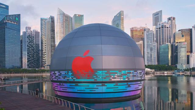 Apple vai ter uma loja futurista, esférica e flutuante em Singapura