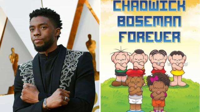 Turma da Mônica presta homenagem a Chadwick Boseman