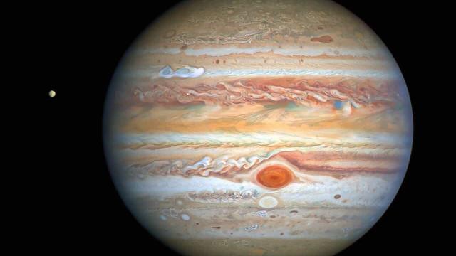 Hubble capta nova (e bela) fotografia das tempestades de Júpiter