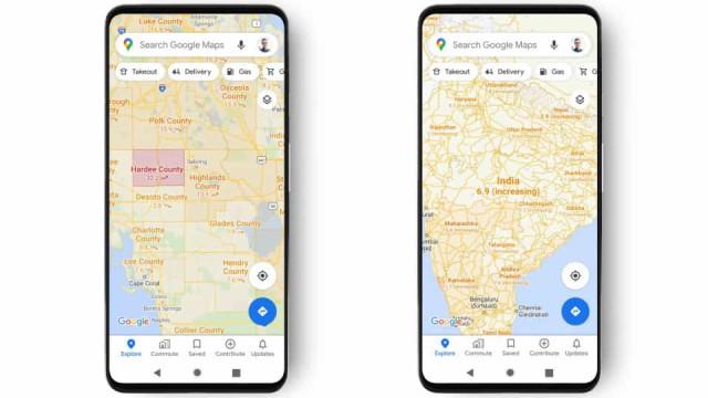 Covid-19: Google Maps vai ajudá-lo a evitar regiões com surtos