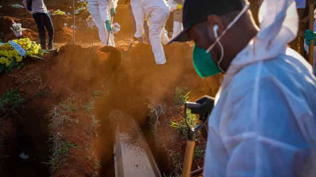Brasil contabiliza média diária de 689 óbitos por coronavírus